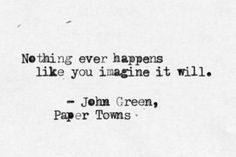 Book Reviews and More!: PAPER TOWNS BY JOHN GREEN- BOOK REVIEW ツ♥ ❤