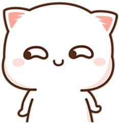 Funny Cartoon Gifs, Cute Cartoon Images, Cute Images, Cute Anime Cat, Kawaii Anime Girl, Cute Gif, Funny Cute, Chibi Cat, Funny Phone Wallpaper