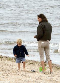 Beach Day for Prince George with Grandma Carol Middleton