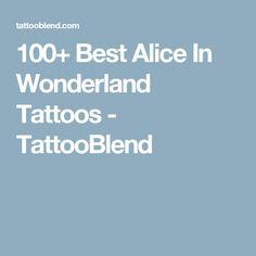 100+ Best Alice In Wonderland Tattoos - TattooBlend