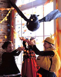 Martha Stewart bat piñata concept.  (I would use paper mache & paint.)