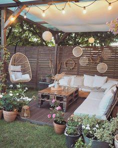 Outdoor Rooms, Outdoor Living, Outdoor Decor, Outdoor Retreat, Backyard Patio Designs, Backyard Landscaping, Patio Ideas, Balkon Design, Backyard Makeover