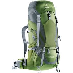 Deuter's ACT Lite 65+10 Backpack expands just in case you want to bring more fun toys on your weekend adventures. Its AirContact suspension system uses breathable padding at the back panel, waist belt, and shoulder straps for a comfy hike up to the campsite. This system also includes stabilizer straps, a supportive X-frame, Vari-Quick easy adjustments, and Deuter's fully mobile Vari  Flex system.  Inside this traditional top-loader, Deuter inserted a hydration-compatible sleeve, a bottom…