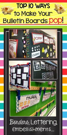 Bulletin Board Ideas! A great blog post with the Top 10 Ways to Make Your Bulletin Boards Pop! LOVE this!!! by carlani