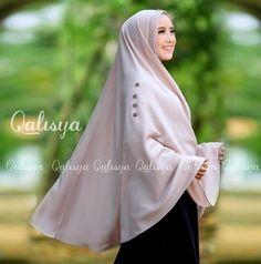 Beige Ziya Instant Hijab Khimar Amira One Piece Slip On Scarf Abaya