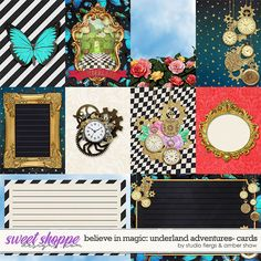 Disney inspired digital scrapbooking Believe in Magic: Underland Adventure Cards by Amber Shaw & Studio Flergs