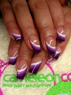 french nails tips Girls Nail Tip Designs, Purple Nail Designs, French Nail Designs, Purple Nail Art, Pink Nails, French Nails, Spring Nail Colors, Stylish Nails, Gorgeous Nails