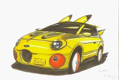 #illustration #illustrationdesign #fashionillustration #sketch #sketchbook #sketching #sketch_daily #carsketch #car #pikachu #pokemon #pokemon20 #japan #toyota #art #artist #drawing #painting #cute #kawaii #copic #gallery #style #イラスト #画 #絵 by yihongmonster