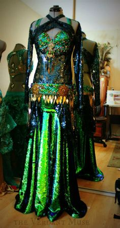 Caterpillar Costumes for Bellydance Evolutions by the Verdant Muse