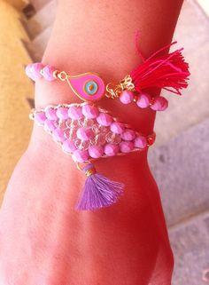 Χειροποίητα βραχιόλια - Handmade bracelets Spring-Summer 2015 Friendship Bracelets, Spring Summer, Jewels, Jewellery, Band, Handmade, Accessories, Sash, Hand Made