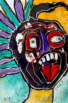 Original LABEDZKI Abstract Painting Outsider Art LIVID 11x17 inches on Paper   eBay