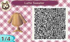 Latte sweater QR code.