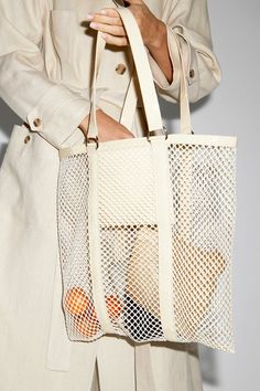 Square tote bag with cream faux-croc patent leather straps. Details Cow leather with polyester mesh. Pink Leather, Cow Leather, Leather Bags, Patent Leather, Purse Essentials, Under Armour Sweatshirts, Camo Purse, Diy Bags Purses, Leather Weaving
