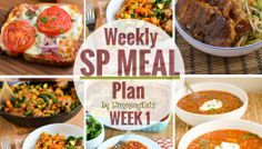 Slimming Eats SP Weekly Meal Plan - Week 1 Want to give an Slimming World SP week a try, but don't know where to start? Well this meal plan is just for you. Slimming World Meal Planner, Slimming World Menu, Slow Cooker Slimming World, Slimming World Recipes Syn Free, Slimming Eats, Vegetarian Weekly Meal Plan, Vegetarian Recipes, Healthy Recipes, Weekly Meals