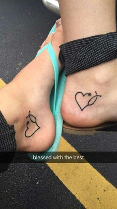 Best friend BFF tattoos heart stethoscope nurses medical doctor