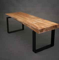 This gallery boasts numerous examples of customized live edge furniture and handmade live edge furnishings which incorporate live edge slabs. Live Edge Furniture, Wood Furniture, Live Edge Table, Diy Bench, Wood Slab, Farmhouse Table, Rustic Wood, Foyer, Dining Chairs