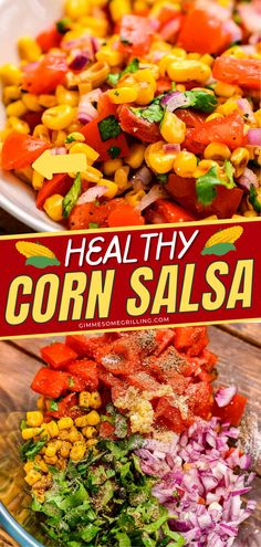Ever wondered how to make corn salsa? Here's the perfect recipe for your Cinco de Mayo celebration. This is a great addition to your tacos, quesadillas, or any food you could think of. Pin this now and try it! Easy Appetizer Recipes, Easy Healthy Recipes, New Recipes, Dinner Recipes, Easy Meals, Appetizers, Healthy Corn, Grilled Food, Corn Salsa