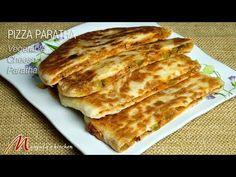 Pizza Paratha (Stuffed Vegetable Cheese Paratha) - Manjula's Kitchen - Indian Vegetarian Recipes