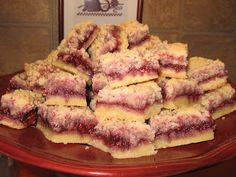 Easy Raspberry Shortbread bars - Recipe - there is an amazing pancake recipe at this site also.