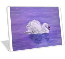 Laptop Skin,  unique,cool,fancy,beautiful,trendy,artistic,awesome,unusual,fashionable,accessories,gifts,presents,ideas,design,items,products,for,sale,purple,lavender,swan,lake,nature,bird,water,redbubble