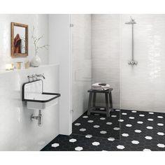 Settecento matiere 760011 hatszogletu fekete feher keramia csempe klasszikus retro vintage furdo tervezes matt modern csempe.jpg (1000×1000)