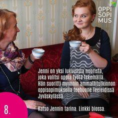 Luukku 8. Katso Jennin inspiroiva ja teentuoksuinen oppisopimustarina. Linkki profiilissa. @teeleidi #oppisopimus #sopivinonparas