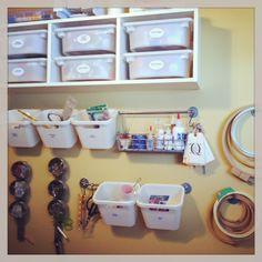 Ikea kitchen storage works for craft rooms too! #ikea #craftstorage #smallspace #redesign www.nicheredesign.com