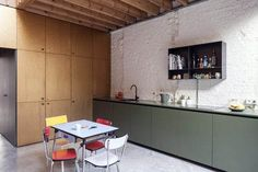 Kitchen Renovation Green cabinets in a modern house in Antwerp by Belgium-based Made Architects. Kitchen Renovation Green cabinets in a modern house in Antwerp by Belgium-based Made Architects. Modern Kitchen Interiors, Luxury Kitchen Design, Best Kitchen Designs, Luxury Kitchens, Interior Design Kitchen, Home Kitchens, House Interiors, Living Room Kitchen, Home Decor Kitchen