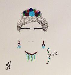 Frida #illustration #mydesign #myillustration #fridakahlo #woman #tasarim #illustrasyon #resim #çizim #symbol #draw