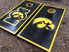Iowa Hawkeyes Cornhole Set With Bean Bags – Cornhole By Blake