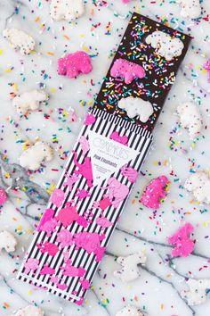 Animal Cookies Dark Chocolate Bar Pink Elephants