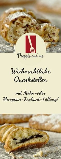 Christmas quark stollen - Preppie and me - French Recipes Marzipan, Krups Prep&cook, Popular Color Schemes, Prep & Cook, French Food, Winter Food, Advent, Preppy, Good Food