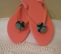 Coach inspired flip flops by Sassykatboutique on Etsy, $22.00
