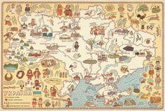 Beautiful polish children's map of Ukraine from Maps, by Aleksandra Mizielinska and Daniel Mizielinski