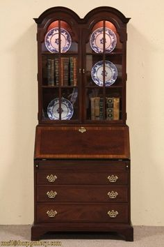 A vintage mahogany secretary from the historic James River Collection by Hickory Chair For Living Room