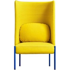 Ara Yellow Armchair By Perezochando (€3.700) ❤ liked on Polyvore featuring home, furniture, chairs, accent chairs, armchairs, yellow, yellow armchair, tube chair, yellow arm chair and yellow accent chair