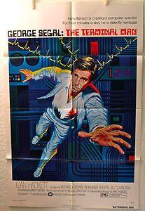 THE TERMINAL MAN 1974 Original Movie Poster 1sh Michael Crichton #SciFi