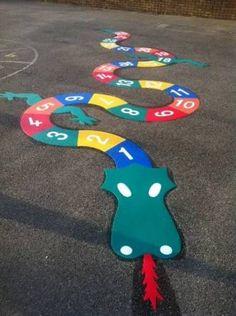 Resultado de imagen para thermoplastic playground markings jump