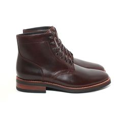 Thursday Boots' Brown President Boot features: Brown Thursday Chrome Leather, Goodyear Welt Construction, Full Glove Leather Interior Lining, Premium Flat Wax Laces, Cork-Bed Midsole, EVA Comfort Strip and Studded Rubber Outsoles.