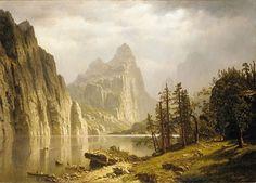 latest addition Bierstadt Albert Merced River Yosemite valley 1866