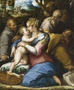 Giorgio Vasari (Italian artist, 1511–1574) Holy Family with St Francis