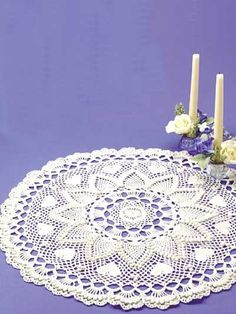 Romantic Pineapples Doily