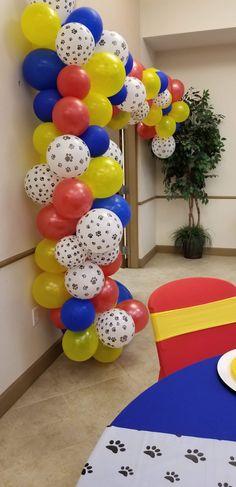 1st Birthday Balloons, 2nd Birthday Party Themes, Fourth Birthday, Birthday Ideas, Paw Patrol Birthday Decorations, Paw Patrol Birthday Theme, Paw Patrol Cake, Paw Patrol Party, Snowflake Wedding Cake