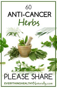 60 Anti-Cancer Herbs