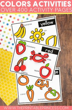Download and print these color activity pages for your classroom! They are great for practicing fine motor skills, color recognition and even reading! Students will love manipulating playdoh and other objects to practice their skills! Make sure to check out the bundle!
