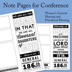 2016 Spring General Conference Printables – The Gospel Home Youth Activities, Lds Church, General Conference, Activity Days, Relief Society, Latter Day Saints, The Covenant, Jesus Christ, Believe