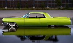 1960's Cadillac sedan slammed