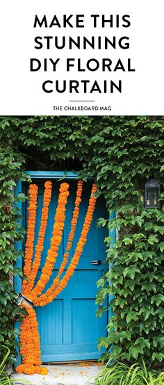 Nothing can transform a moment, mood or space the way fresh flowers can and these gorgeous DIY marigold flower curtains are certainly brightening our spirits!