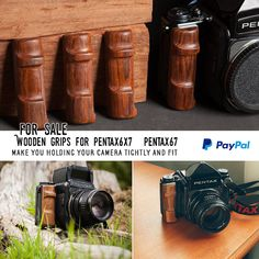 Pentax67 6x7 Custom wooden grip right hand by Cafeminimal on Etsy