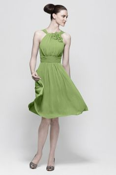 green bridesmaid dresses for a garden wedding